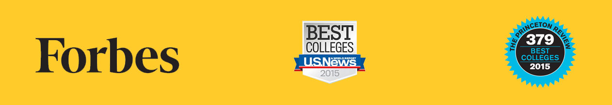 college rankings and awards include forbes U.S. news and princeton review
